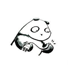 【一日一大熊猫】2015.11.28 5ドル程度でコンピューターが手に入る時代だね。 それはとても小さくて、動作させるための 電源やケーブルの方が大きいくらい。 #パンダ #RaspberryPi