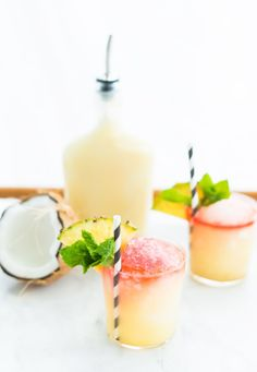 Piña Colada Snow Cone Cocktail by @ashroseconway. Tip: Make your shave ice in the @Vitamix!
