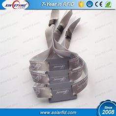 RFID Woven Wristband For Festival Event