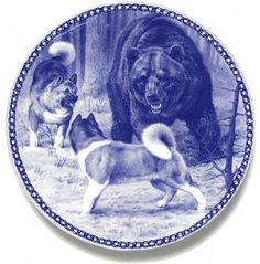 Akita: Ltd Edition Danish Blue Porcelain Plate