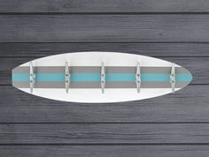 3 Ft Surfboard Coat Rack with 5 Boat Cleats by ProjectCottage