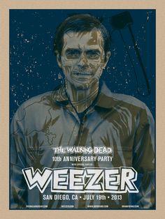 Weezer -Walking Dead 10th Anniv Show - Brian Ewing - 2013 ----