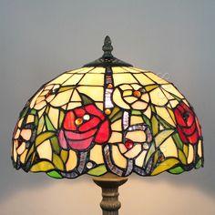 Rose Tiffany Lamps  12S0-4