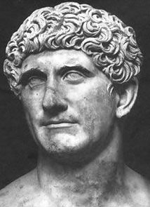 Mark Antony, Roman Politician and General, Part of the second Triumvirate (meaning three rulers) Octavian and Lepidus and Antony. Octavian and Antony argued and separated causing civil war. Antony was defeated in the battle of Actium and surrended in Alexandria to commit suicide with lover Cleopatra present which she committed suicide later as well.