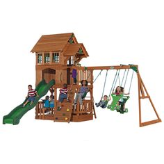 Zoomed: Adventure Playsets The Liberty Cedar Playset from Lowe's