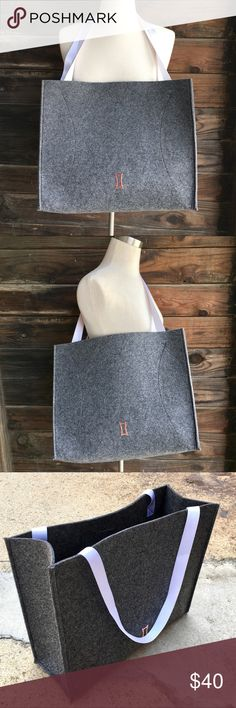 """Kit And Ace Tote Bag Awesome tote for yoga, Saturday markets, or hitting the sample sales!  Like new condition. Super expensive, upscale brand available here for budget conscious fashionistas. Hand washable, felted polyester.  Environmentally friendly materials. Charcoal grey.  16"""" x 13"""" x 6"""". Kit And Ace Bags Totes"""