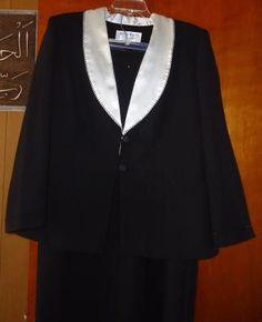 Elegant soiree Black & silver women's skirt set 2 PIECES 20W Maxie KLEIN GIFT UNDER $40