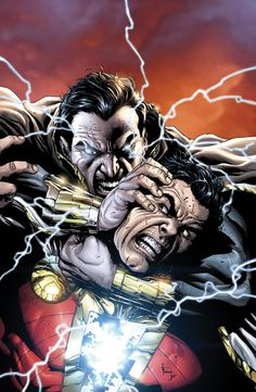 Captain Marvel et Black Adam (Justice League #21) by Gary Frank