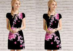 Đầm suông in 3D hoa dại-A1028 Giá: 320.000đ - Màu sắc: y hình - Chất liệu: thun Pháp ánh kim in 3d - Kích thước:S/M/L/XL