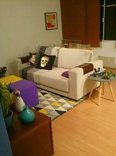 Nossa sala | Living room | Tapete geométrico