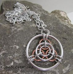Tri Again Pendant with chain
