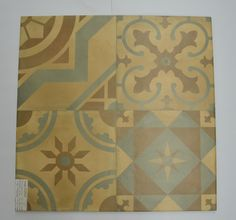 "Patchwork porcelain 24""x24"" tiles"