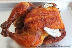 I used this recipe before for roasting duck . The result turns out great! As the named stated crispy skin! This time I'm using chicken. Duck Recipes, Chicken Recipes, Roast Duck, Chicken Cacciatore, Roast Chicken, Quick Meals, Holiday Recipes, Main Dishes, Good Food