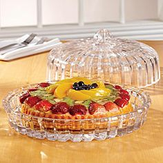 Fifth Avenue Crystal Alexandria Domed Cake Plate | Overstock.com Shopping - Great Deals on Fifth Avenue Crystal Serving Platters/Trays