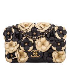 Chanel Black Camellia Flap Bag