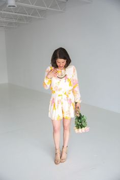 How to Rock a Romper (like this one from Anthropologie) after you've had a baby