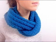 How to Loom Knit a Ribbed Infinity Scarf (DIY Tutorial) - YouTube