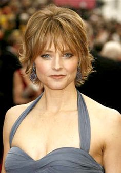 short-to-medium hairstyle for older women