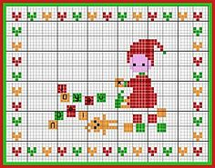 I know it is a cross stitch pattern, but it could totally be a quilt top too!