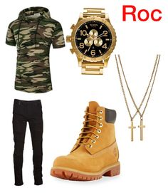 """#Tour Day 2 Outfit 1"" by issack on Polyvore featuring Marcelo Burlon, Timberland, Nixon, Dsquared2, men's fashion and menswear"