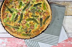 Spargel Tarte mit Schinken Quiche, Bbq, Cooking Recipes, Breakfast, Food, Pie, Grated Cheese, Ham Recipes, Party Appetizers