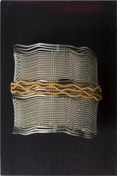 Cuff Bracelet | Barbara Patrick.  Silver and gold