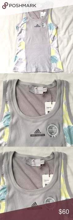 Adidas Stella McCartney Barricade Tank RG Glacial Super cute Adidas by Stella McCartney Barricade Tank with climachill technology. Featured French Open Ronald Garros and is perfect for playing tennis. Adidas by Stella McCartney Tops Tank Tops