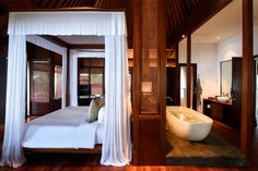 The Legian Bali's Beach House Master Bedroom #Seminyak #Bali