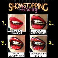 Use #LipSense and #ShadowSense to create fun faces.  Great for #Halloween…
