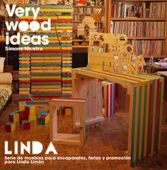 serie di pezzi modulari componibili, per esposizione prodotto Linda Limón.