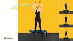 Wir zeigen Euch, wie Ihr Eure Arme mit und ohne unsere praktischen Gewichtsbälle auf dem bellicon® in Form bringt. Die hochelastischen Bewegungen auf dem bellicon® intensivieren diese vier Übungen noch.
