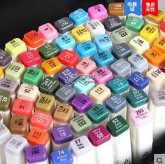 Boyama, Çizim ve Sanat Malzemeleri Kroki Animasyon Pro copic manga İşaretleyiciler 80 set rotuladores colores(China (Mainland))