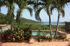 View of Fish bay as seen from the pool deck of Balance Villa St John USVI