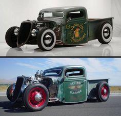 Rat Rod Pickup, Old Pickup Trucks, Rc Cars And Trucks, Hot Rod Trucks, Us Cars, Custom Trucks, Cool Trucks, Cool Cars, Hot Rods