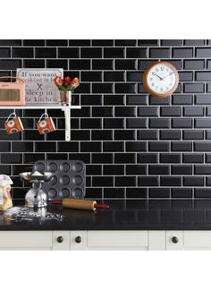 Tilezone online tile shop in UK with range of tiles collection. Buy tiles online in UK from leading online tile store at affordable & discounted price. Black Wall Tiles, Black Backsplash, Wall And Floor Tiles, Splashback Tiles, Backsplash Ideas, Red Walls, Black Walls, Black Brick, Metro White