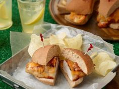 Ranch Chicken Sandwiches recipe from Ree Drummond via Food Network