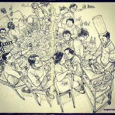Peking Duck! #kimjunggi #sketch #drawing