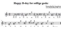 Happy Birthday for solfège geeks G Major, Happy B Day, Teaching Music, Geeks, Sheet Music, Lyrics, Geek Stuff, Happy Birthday, Reading