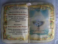 Torta libro para primera comunión