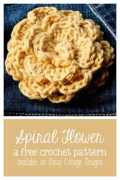 Sprial Flower Crochet Pattern