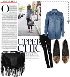 """Olivia Inspired"" by vivialexa on Polyvore  Olivia Palermo is one of my fav fashionistas. Today I decided combine my laid-back styling with her sophisticated taste. Since I was running lots of errands ...the heels was a BIG NO-NO and instead I decided to wear my Zara Leopard Flats. In addition, I am obsessed with my fringe black purse. It makes me feel very biker chic. (If that even make sense) :)"
