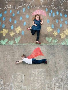 Great idea for kids' portraits