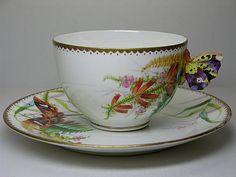 Minton butterfly flower cup