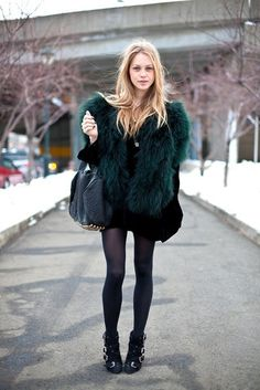Love the fur & booties!