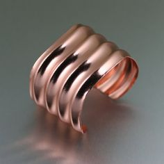 Copper Wave Cuff Bracelet  An Awesome 7th by johnsbrana on Etsy, $70.00