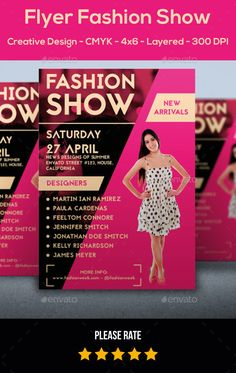 Flyer Fashion Show — Photoshop PSD #flyer #simple • Available here → https://graphicriver.net/item/flyer-fashion-show/11391344?ref=pxcr