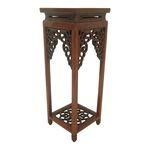 """Stunning Ornate Vintage Chinese Rosewood Display Stand H13"""""""