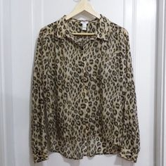 Selling this Leopard print blouse on Poshmark! My username is: thatsmarissa. #shopmycloset #poshmark #fashion #shopping #style #forsale #Forever 21 #Tops