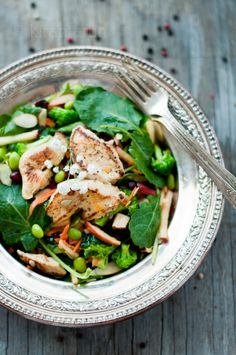 Chopped Apple & Chicken Salad w/ Clementine Dressing