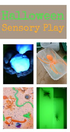 Fun Halloween sensory play activities :: messy play, mess-free options, plus ideas for babies and toddlers
